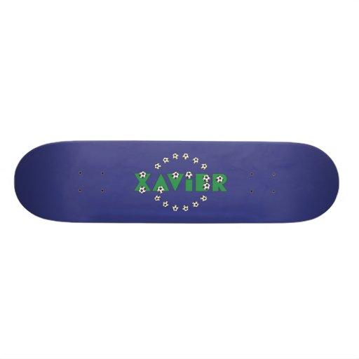 Xavier in Soccer Green Skateboard