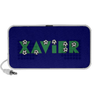 Xavier in Soccer Green Mini Speakers