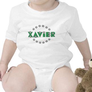 Xavier in Soccer Green Baby Bodysuit