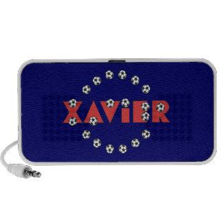 Xavier in Soccer Red Mp3 Speaker