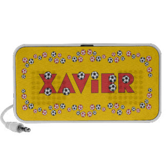 Xavier in Soccer Red iPhone Speaker