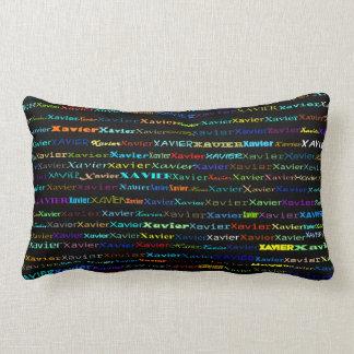 Xavier Text Design I Lumbar Pillow