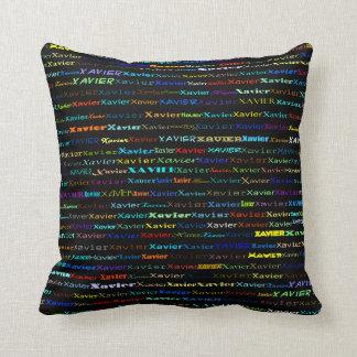 Xavier Text Design I Throw Pillow