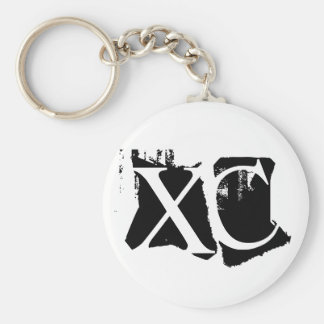 XC - Cross Country Basic Round Button Key Ring