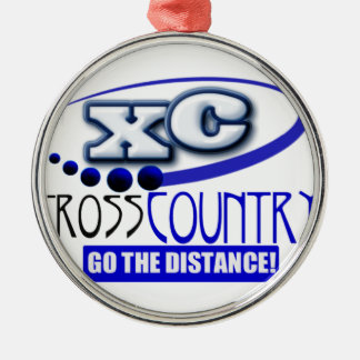 XC CROSS COUNTRY GO THE DISTANCE METAL ORNAMENT