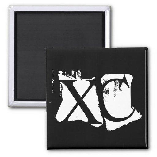 XC - Cross Country Fridge Magnets