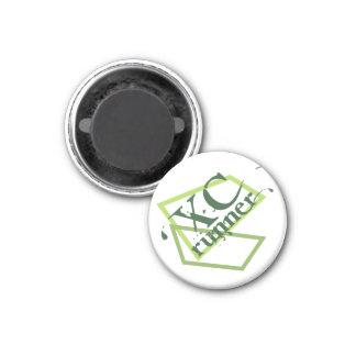 XC Cross Country Runner 3 Cm Round Magnet