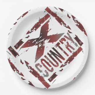 XC Cross Country Runner 9 Inch Paper Plate