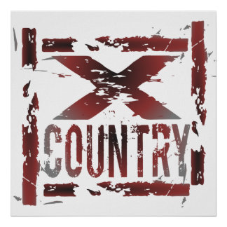 XC Cross Country Runner Poster