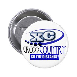 XC MOTTO - Go the Distance - CROSS COUNTRY 6 Cm Round Badge