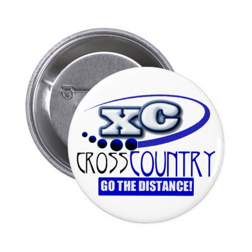 XC MOTTO - Go the Distance - CROSS COUNTRY Pins