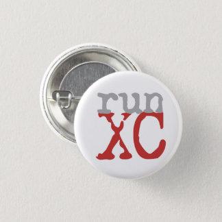 XC Run - Cross Country Running 3 Cm Round Badge