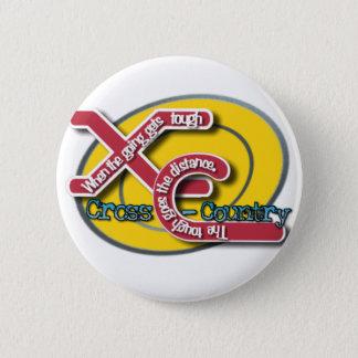 XC TOUGH MOTTO (CROSS COUNTRY) 6 CM ROUND BADGE