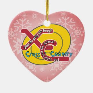 XC TOUGH MOTTO - CROSS COUNTRY CERAMIC ORNAMENT