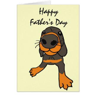 XD- Funny Dog Cartoon Father's Day Card