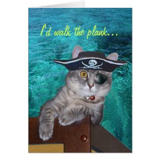 Xena Pirate Valentine Card - Custominzed