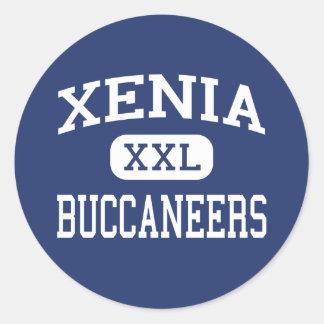 Xenia - Buccaneers - High School - Xenia Ohio Round Sticker