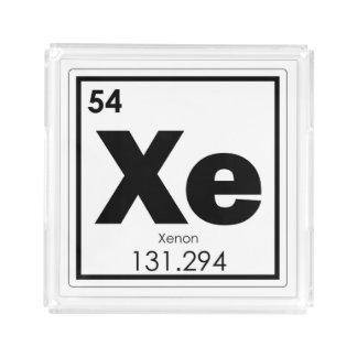 Xenon chemical element symbol chemistry formula ge acrylic tray