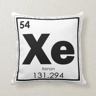 Xenon chemical element symbol chemistry formula ge cushion