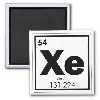 Xenon chemical element symbol chemistry formula ge magnet