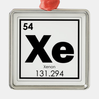 Xenon chemical element symbol chemistry formula ge metal ornament