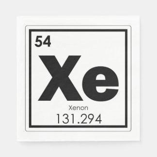 Xenon chemical element symbol chemistry formula ge paper napkins