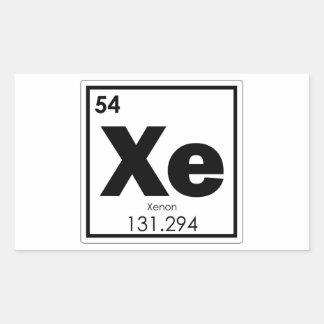 Xenon chemical element symbol chemistry formula ge rectangular sticker