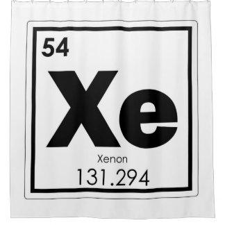 Xenon chemical element symbol chemistry formula ge shower curtain