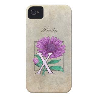 Xeranthemum Flower Monogram iPhone 4 Cases