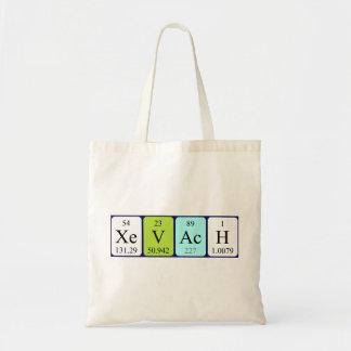 Xevach periodic table name tote bag