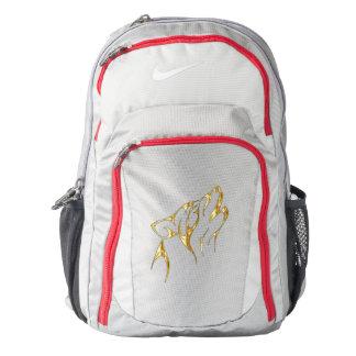XGN Gold Wolf BookBag Backpack