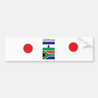 Xhosa Language And South Africa/Lesotho Flags Bumper Sticker
