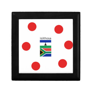 Xhosa Language And South Africa/Lesotho Flags Gift Box