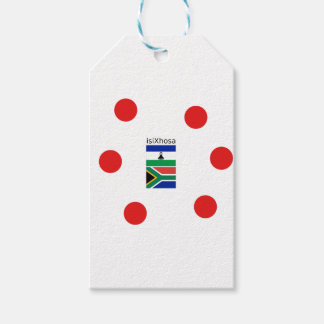Xhosa Language And South Africa/Lesotho Flags Gift Tags
