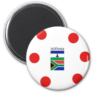 Xhosa Language And South Africa/Lesotho Flags Magnet