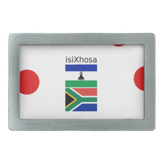 Xhosa Language And South Africa/Lesotho Flags Rectangular Belt Buckle