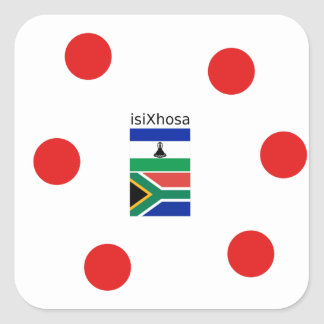 Xhosa Language And South Africa/Lesotho Flags Square Sticker