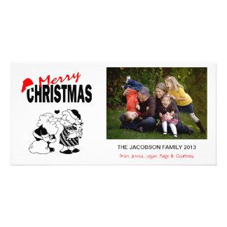 XI1 Santa Kiss Mrs. Claus Xmas Photo Cards