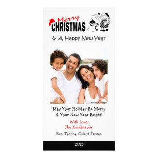 XI3 Santa Kissing Mrs. Xmas Cards Photo Greeting Card
