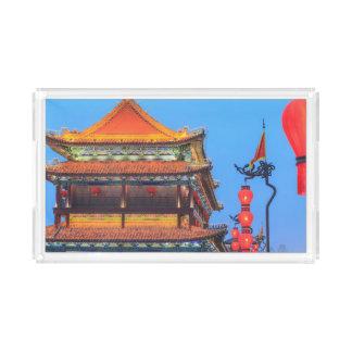 Xi'An City Wall Building Acrylic Tray