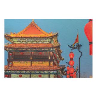 Xi'An City Wall Building Wood Print