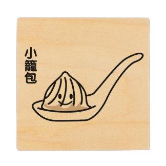 Xiaolongbao Chinese Soup Dumpling Dim Sum Bun Wood Coaster