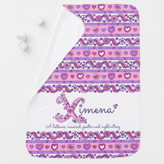 Ximena personalized X name meaning baby blanket
