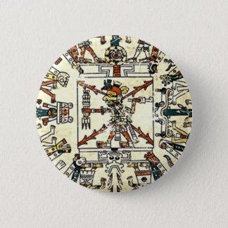 Xiuhtecuhtli Aztec Death God 6 Cm Round Badge