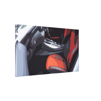 XL Canvas depicting the Driver's Seat of a Car