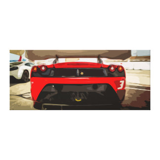 XL Canvas of a Red Sports Car with a Simple Design