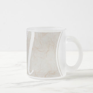 XL Monogram Silk Paper texture image Glass Mug