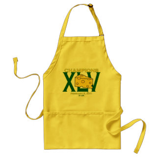 XLV 45 green and yellow champs football apron