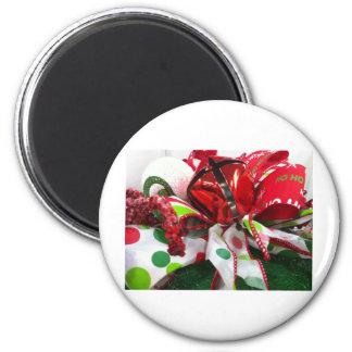 Xmas 6 Cm Round Magnet