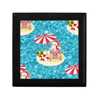 xmas beach santa claus gift box